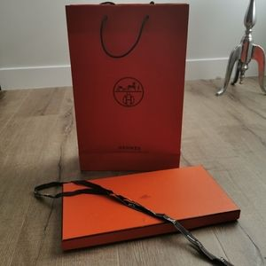 Hermes box and shopping bag